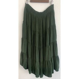 Longhorn Western Wear green maxi skirt size large